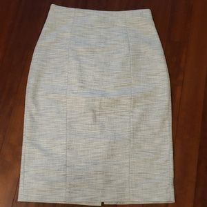 Banana Repiblic tweed pencil skirt.